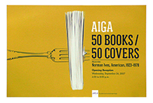 AIGA 50 Books Invitation