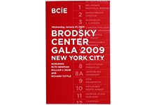 Brodsky Center 2009 Gala Invite